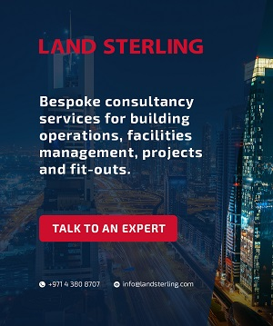 Land sterling skywrapper banner